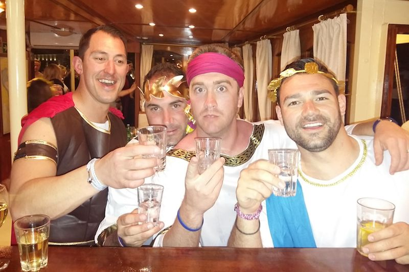Romans Party on board Split